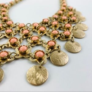 Gold Floral Chunky Necklace